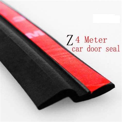 How To Seal A Car Door From Leaking by 4meter Z Type 3m Adhesive Car Rubber Seal Sound Insulation Car Door Sealing Weatherstrip