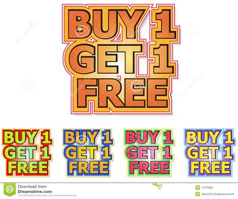 Get The 4 1 1 For Free by Buy 1 Get 1 Free Royalty Free Stock Images Image 17573909