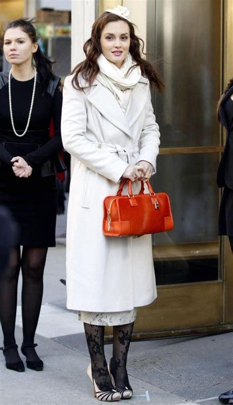 Gossip Style Found Serenas Bag by Diane Furstenberg Coat Loewe Bag Badgley Mischka
