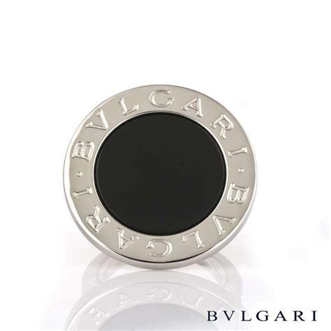 bvlgari 18k white gold onyx ring size l rich diamonds of