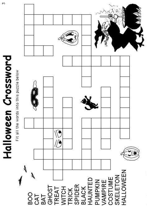 halloween coloring pages and puzzles halloween coloring pages halloween crossword coloring pages