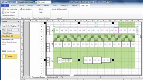 server room layout design software using visio to draw data center floor plans quickly and