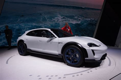 porsche mission e wheels porsche turned the mission e into a lifted wagon with 600