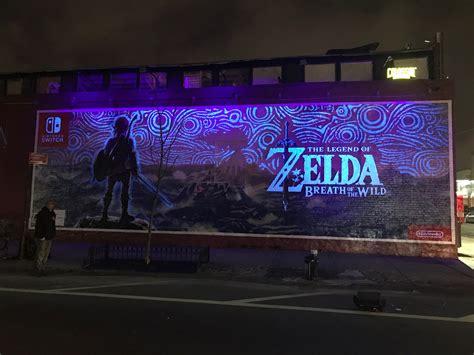 Zelda Wall Mural incredible zelda breath of the wild mural glows in the