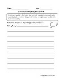 writing prompts worksheets narrative writing prompt