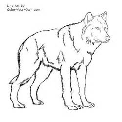 Free Anime Wolf Color Coloring Pages sketch template