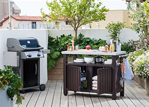 Outdoor Prep Table With Storage by Keter Unity Xl Indoor Outdoor Entertainment Bbq Storage