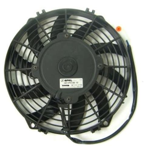 pusher fan vs puller fan spal 9 12v skew blade pusher electric fan speedy air spares