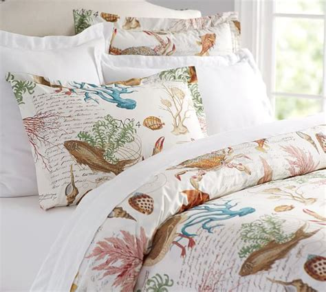 pottery barn bedding sets sea life coastal duvet cover sham pottery barn