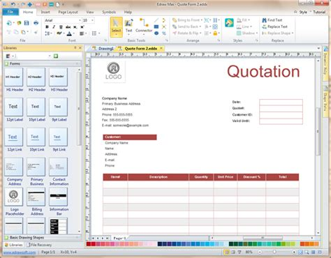printable form creator software quote form software create quote forms rapidly with