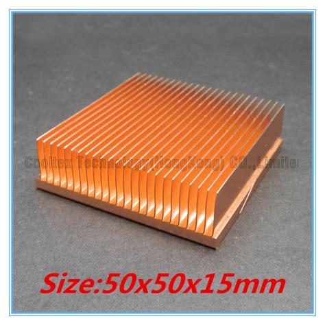 Promo Heat Sink Aluminium Radiator Cooling Pendingin 11 X 11 X 5 high quality copper heatsink 50x50x15mm skiving fin
