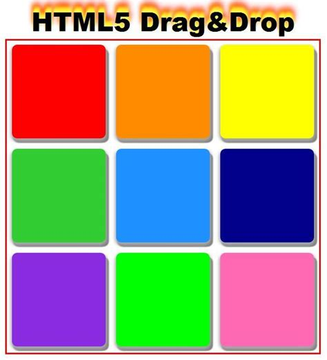 6 how to create drag drop using html5 tutorials jonnung html5 drag and drop puzzle div 순서 바꾸기