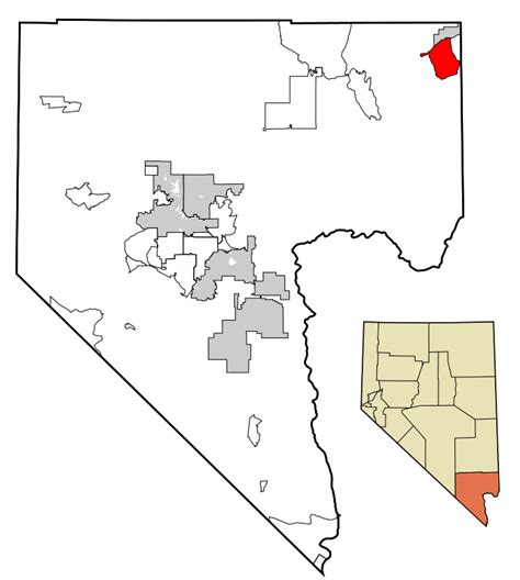 Records Clark County Nevada File Clark County Nevada Incorporated Areas Bunkerville Highlighted Svg