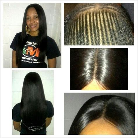 can i have a middle part weave without hair showing 1000 images about sew in braid pattern on pinterest