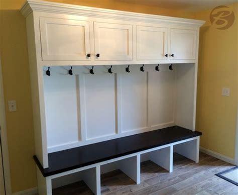 handmade mudroom entryway bench  storage
