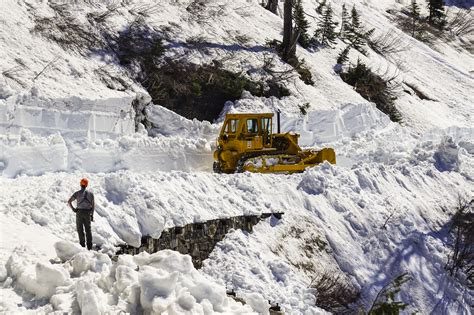 open snow avalanches delay sun road plows while other glacier roads