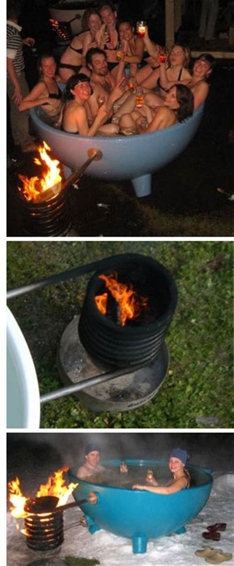 plans  wood fired hot tub plans diy