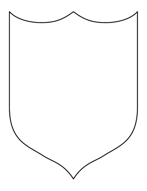 blank shield template printable blank sheild clipart best