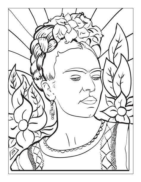 frida kahlo colouring books 379133994x frida kahlo coloring page art project frida kahlo embroidery and coloring books
