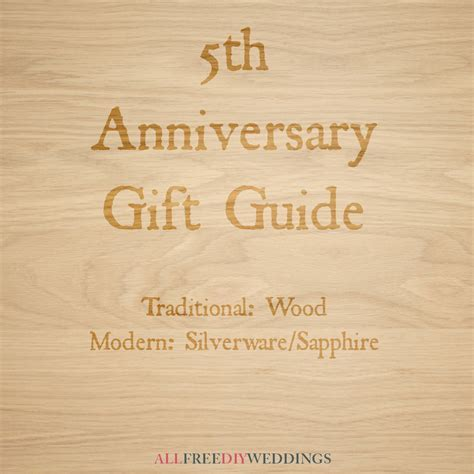 5th Anniversary: Modern and Traditional Anniversary Gifts