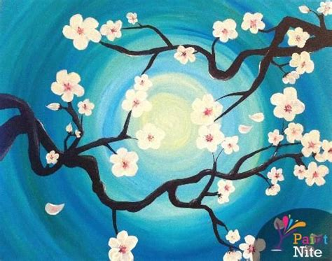 paint nite japanese cherry blossoms quot cherry blossom branches quot created for paint nite by lexie