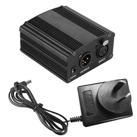 condenser microphone needs phantom power 1 channel 48v phantom power supply for condenser microphone xlr studio mic au ebay