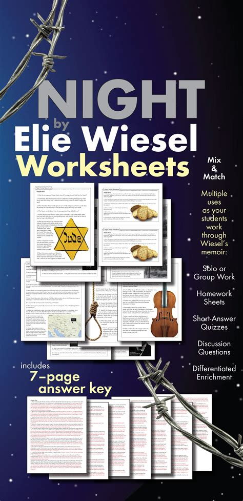 theme essay on night by elie wiesel night by elie wiesel worksheets hw discussion questions