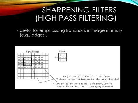 high pass filter vs smart sharpen spatial filtering using image processing