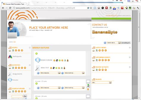 themes moodle 1 9 free have a bananabyte new theme for 1 9 with flash header