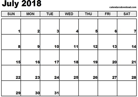 printable july 2018 calendar printable calendar july 2018 pdf larissanaestrada com