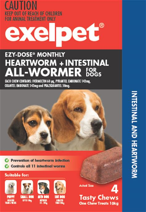 wormer for puppies exelpet ezy dose heartworm intestinal all wormer for dogs reviews productreview au