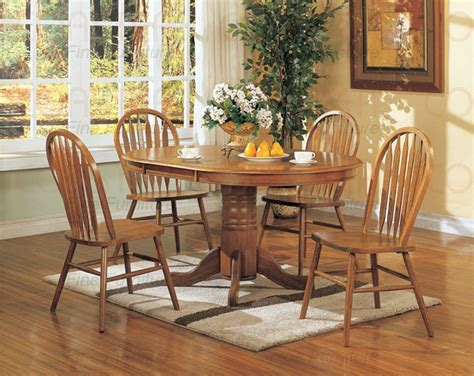 piece 42 inch round dining room set in antique oak nostalgia 5 piece 42 inch round oval dining set with arrow