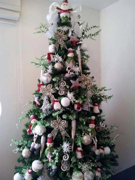 decoração arvore de natal vermelho e branco 193 rvore prata e branca arroz de festa decora 231 227 o eventos e