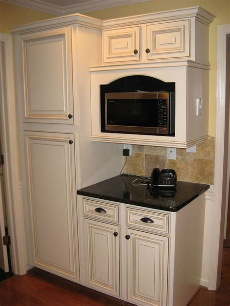Kitchen Microwave Cabinet by Best 25 Microwave Cabinet Ideas On Microwave
