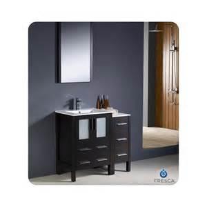 fresca torino 36 quot modern bathroom vanity w side cabinet
