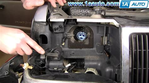 2000 jeep grand light assembly how to install replace grand headlight 93 98