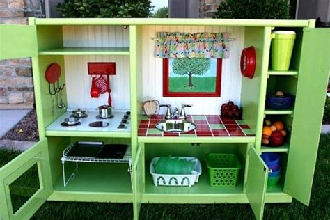 play kitchen from furniture 5 really cool diy play kitchen sets made from recycled