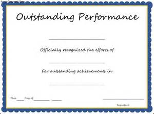 award certificate templates for outstanding performance award certificate template