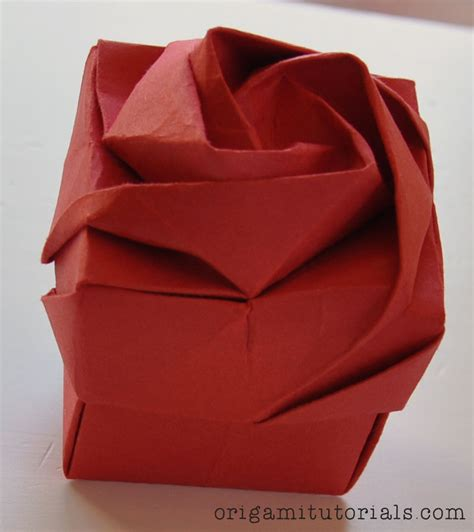 how to make an origami flower box origami box origami tutorials