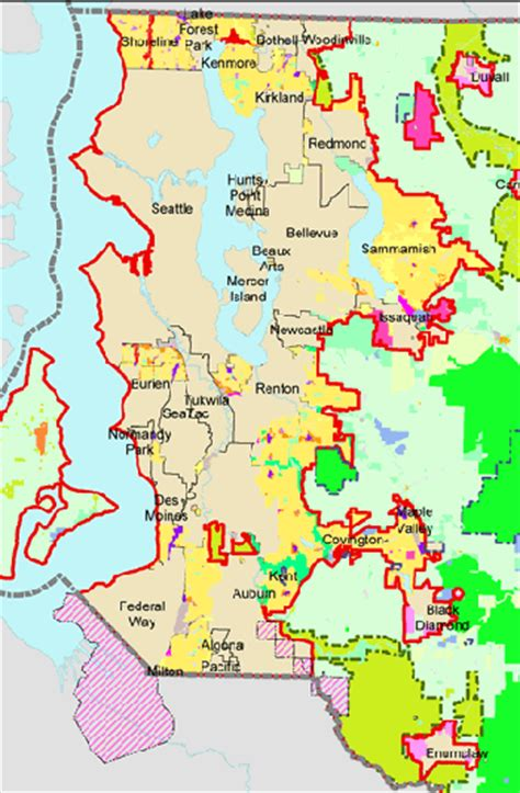 seattle map king county do growth boundaries work the dirt