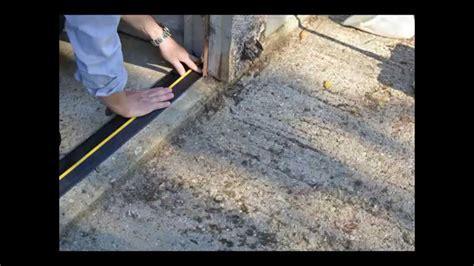 Weather Defender Garage Door Floor Seal Installation   YouTube