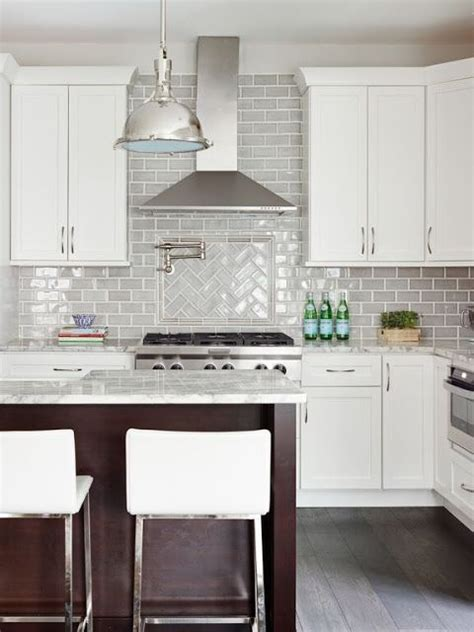 grey kitchen backsplash stephanie kraus designs llc white cabinets gray