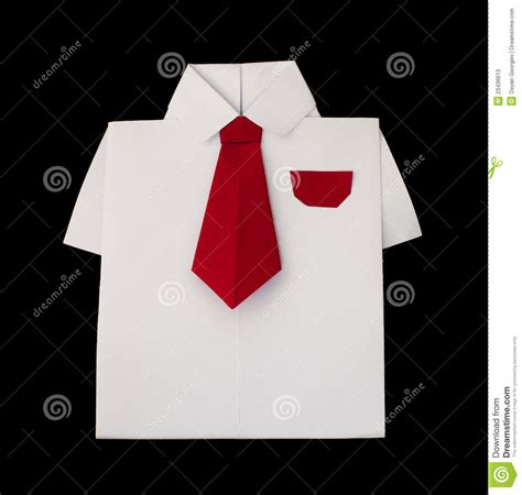 Origami Shirt With Tie - origami white shirt with tie stock photos image 23436613