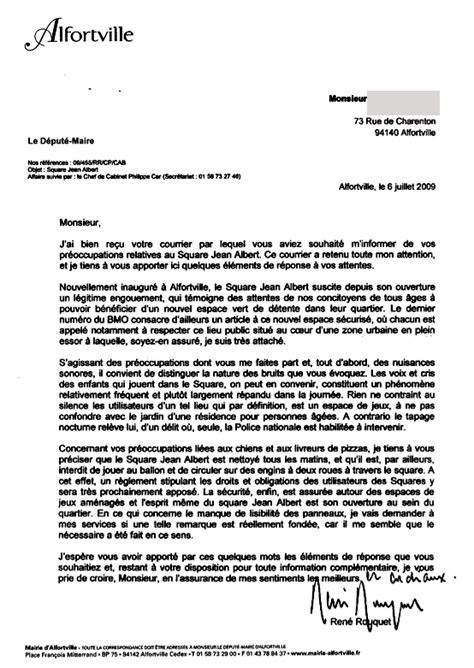 Un Exemple De Lettre Formelle En Français Exemple Lettre Tapage Nocturne