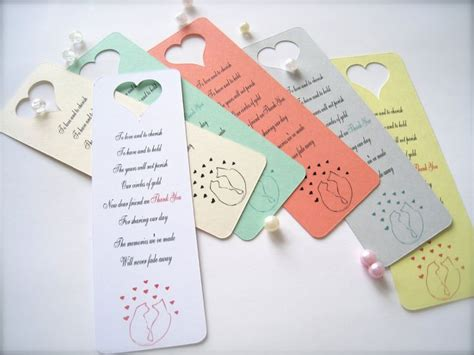 wedding favors bookmarks mini bookmarks wedding favors thank you bookmarks