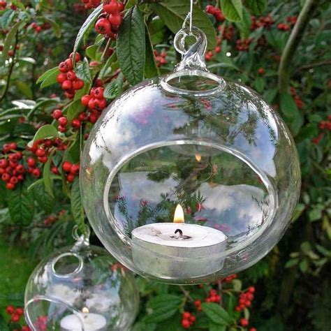 Outdoor Tea Lights Buy Glass Bauble Tea Light Holder The Worm That Turned Revitalising Your Outdoor Space
