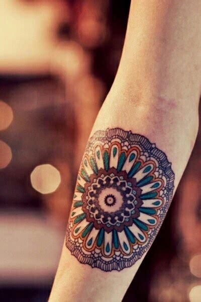mandala tattoo with colour arm arm tattoo beautiful color image 700649 on favim com