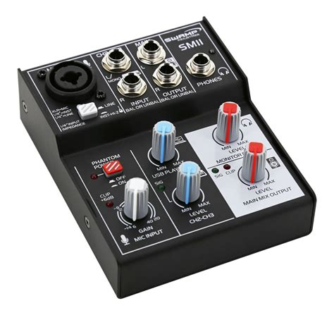 Mixer Audio 4 Channel Murah sw 3 channel mixer audio interface 1 mic pre usb record playback ebay