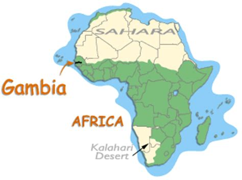 africa map gambia map of africa showing gambia