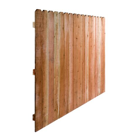 lowes ear fence shop redwood ear wood fence panel common 6 ft x 8 ft actual 6 ft x 8 ft at